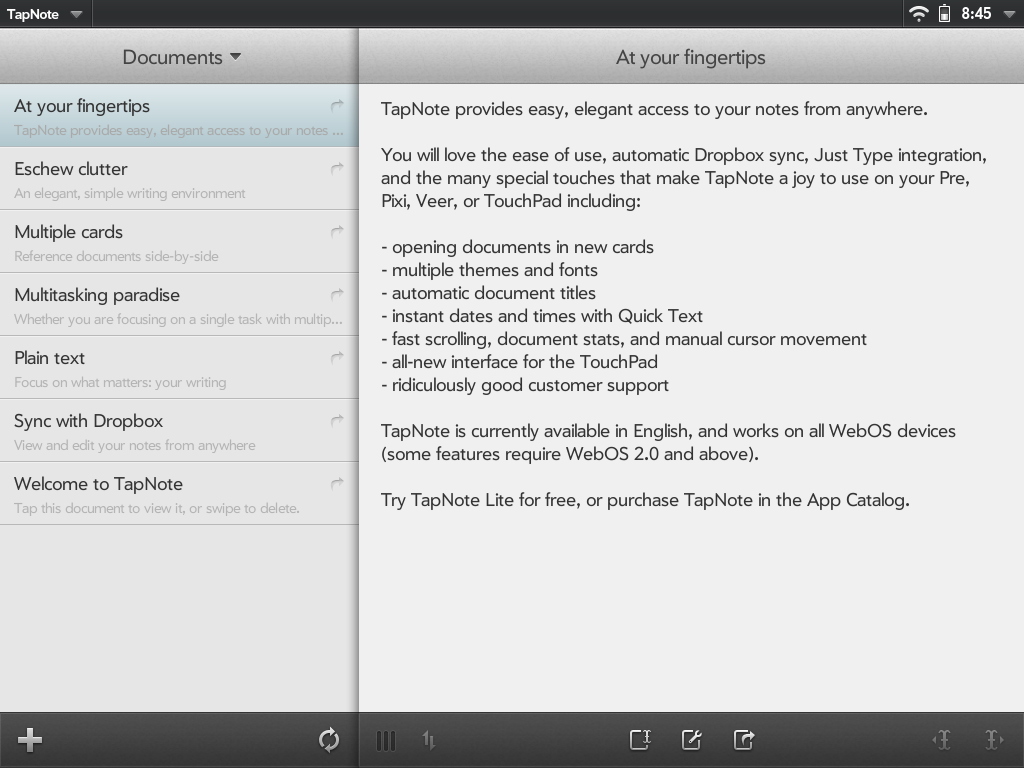 TapNote Screenshot 0